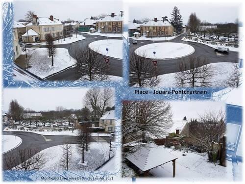 La Place ronde et la neige