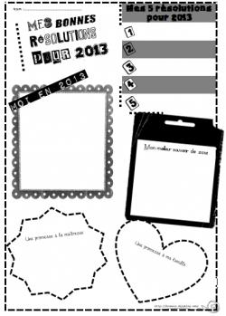Bonnes résolutions 2013