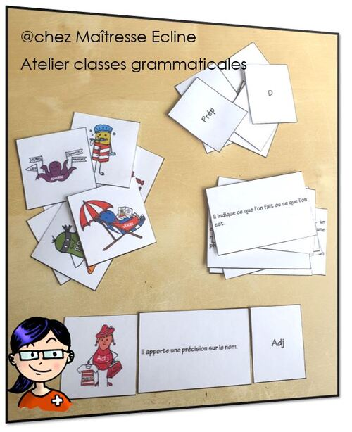 Atelier les classes grammaticales 7e Harmos