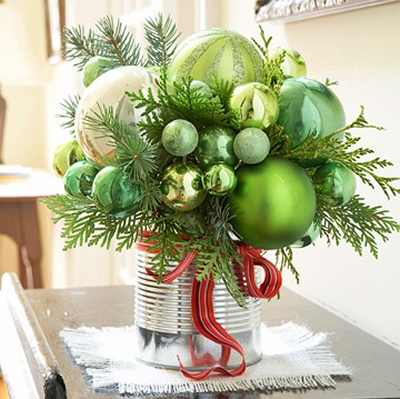 Id e d co no l les bouquets d co en nuances for Idee decoration fenetre pour noel