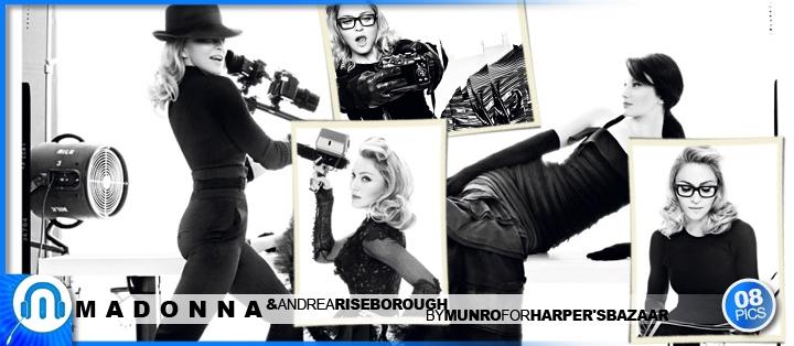 Madonna & Riseborough by Munro for Harpers' Bazaar