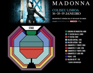 1 show added to Madame X Tour in Lisbon