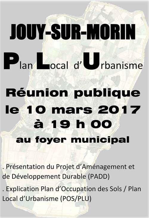 Affiche Réunion publique PLU
