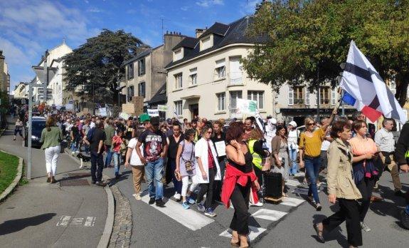 Ce samedi, 500 opposants au passe sanitaire dans les rues de Quimper