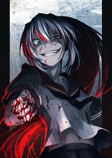 Anime picture akuma no riddle banba mahiru banba shinya hetza (hellshock) single tall image 744x1052 381678 en