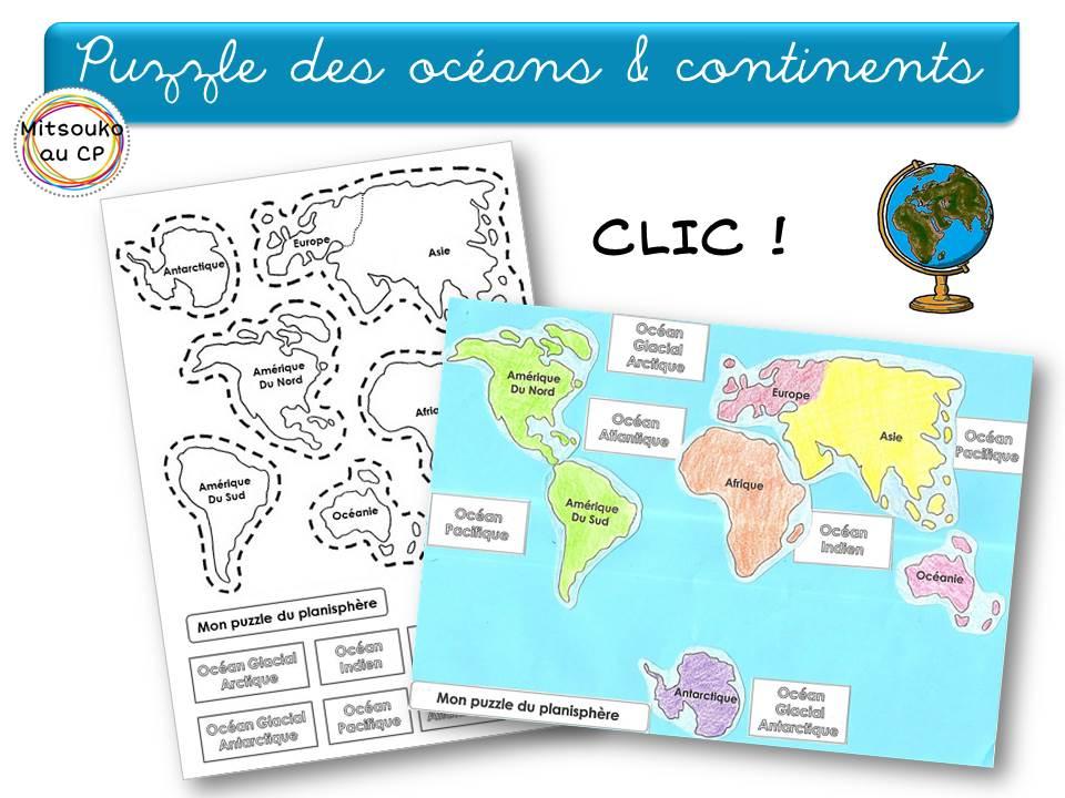 Favori Apprendre les continents et les océans de façon interactive  VX15