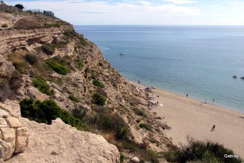 Sur la falaise de Leucate