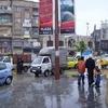 Alep - sous la pluie