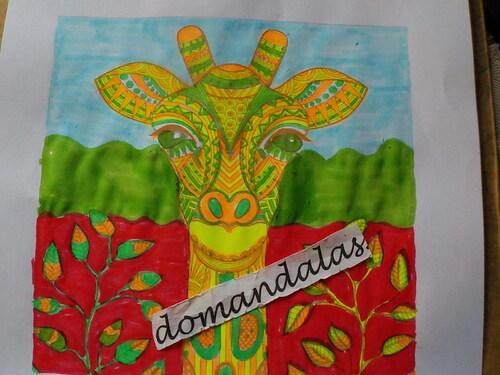 DOMANDALAS  coloriage tortue