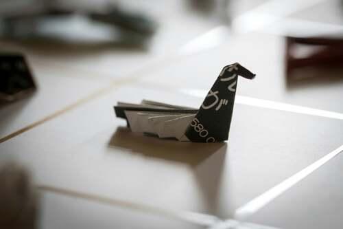 Coup de cœur : l'origami laissé sur la table