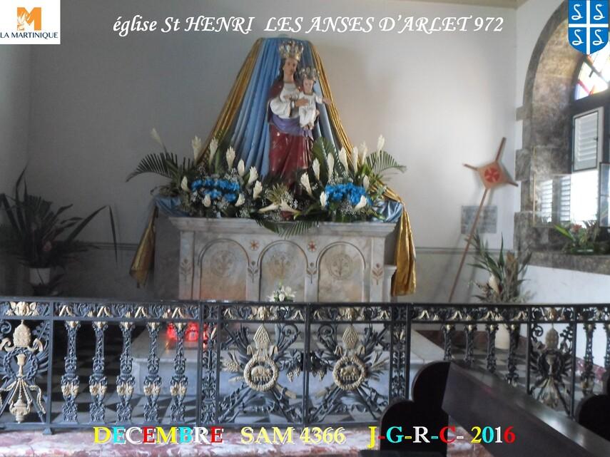 Eglise  Saint HENRI des ANSES D'ARLET 972   2/2         D     07/06/2018
