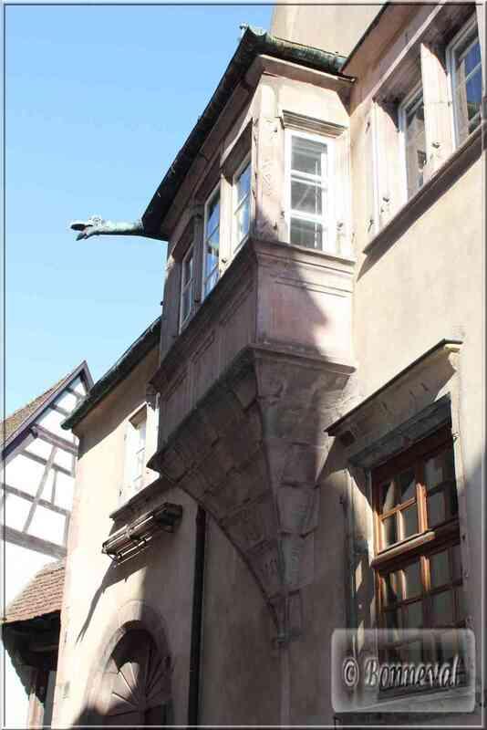 Alsace Route des Vins Riquewihr maison marchand Tobie Berger XVIème siècle