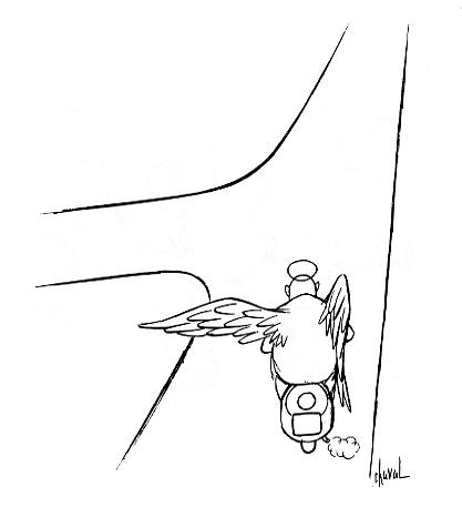 Un archange de Chaval s'est égaré