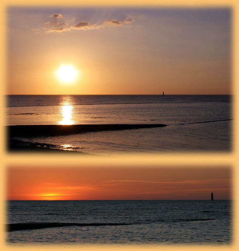 Coucher de soleil au Phare des Baleines - Ile de Ré - 17 posté ledimanche 03 août 2008