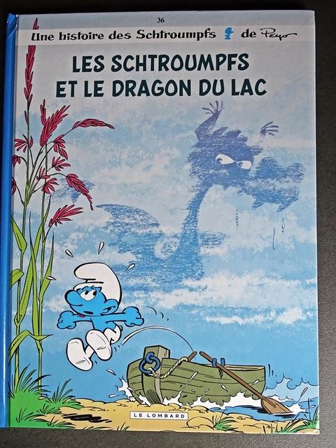 les schtroumpfs et le dragon du lac