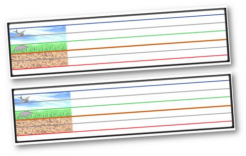 ~Lignes seyes colorées pour ardoises d'entraînement~
