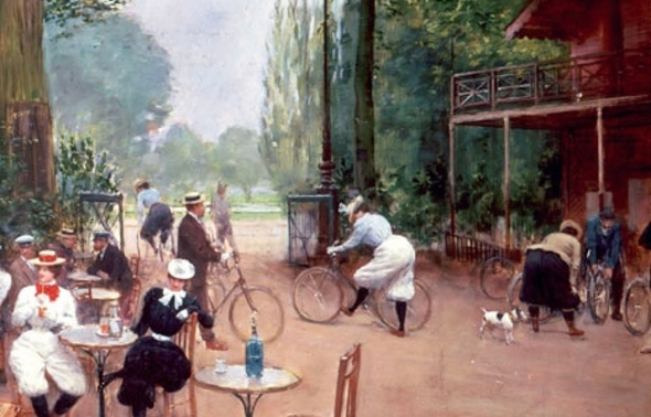 La MODE  des VELOCIPEDES en 1900.'(10)