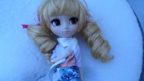 Mitsuki with snow