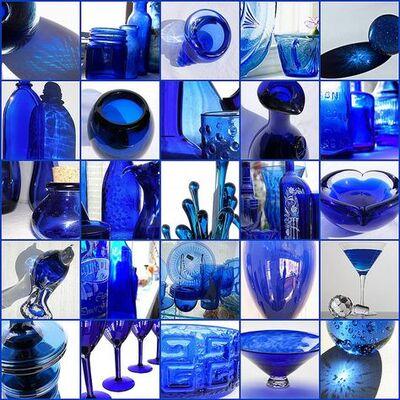 Collages bleu