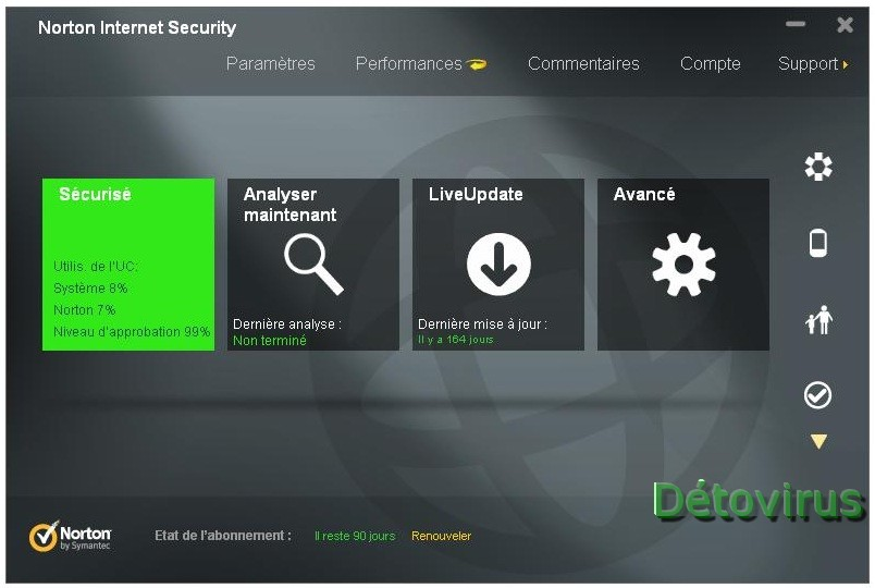 Norton Internet Security 2013 Licence 90 Jours Gratuits