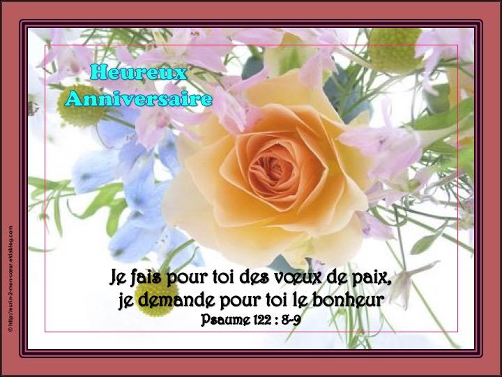 Heureux/Joyeux Anniversaire - Psaumes 122 : 8-9