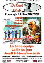 Le 8 décembre, hommage à Julien DUVIVIER