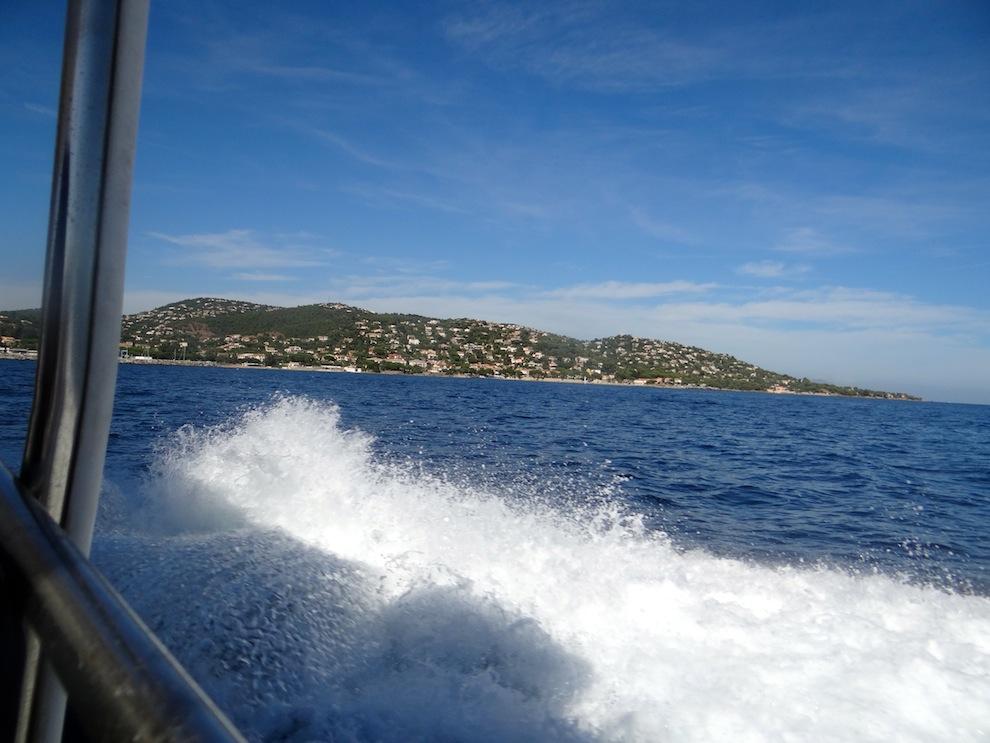 Prises de vues sur la navette qui mène des Issambres à St.tropez
