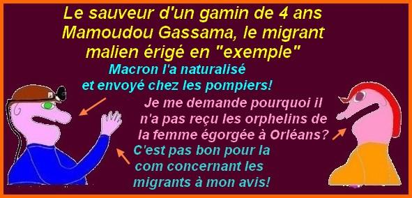 Le migrant sauveur ou une occasion en or pour Macron de redorer son blason !