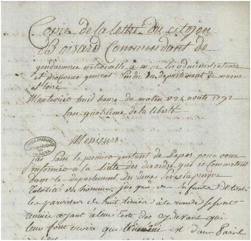 1792, vu depuis le Maine-et-Loire (7° partie)....