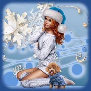 Kit hiver noel bleu
