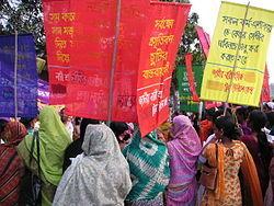Mobilisation féministe à Dacca au Bangladesh en 2005.