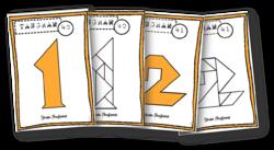 Tangrams - 9 modèles nombres
