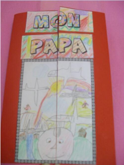 Carte fête des pères 2012 - CP/CE1 - Lapbook