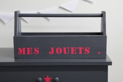 Collection GRIGRIS PLOMB : boîte à outils étoile rose framboise