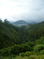 Vue des cascades de Peguche