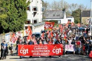 La journée d'actions du 19 avril en Finistère vue par la PQR