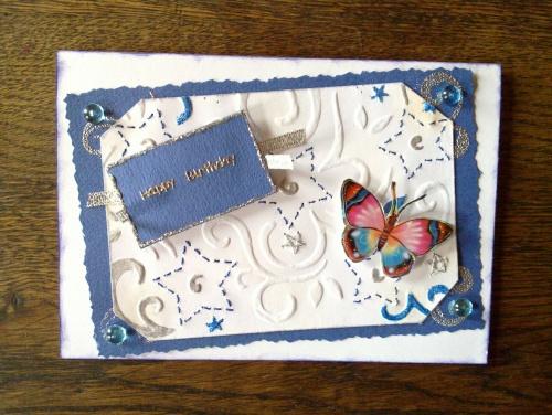 Une carte d'anniversaire
