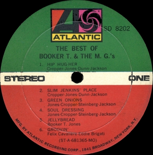 """1968 : Album """" The Best Of Booker T. & The MG's """" Atlantic Records SD 8202 [US]"""