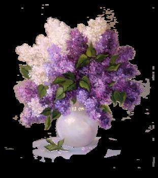 tubes vase fleurs diverses
