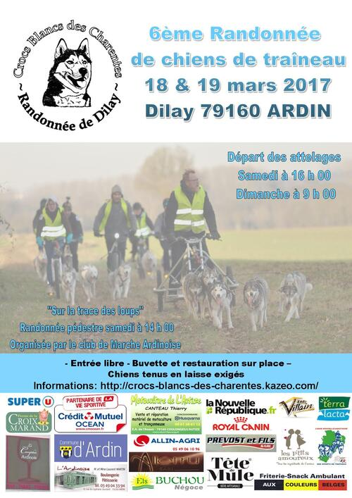 Randonnée de Dilay 2017 Affiche inscription et informations