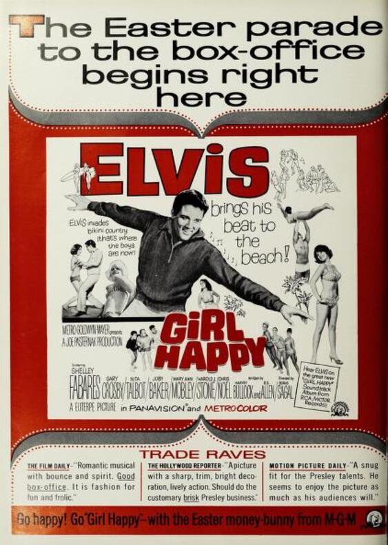GIRL HAPPY BOX OFFICE 1965