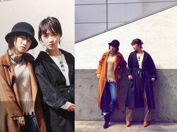 "Kudo Haruka & Makino Maria dans le magazine ""SPRING"""