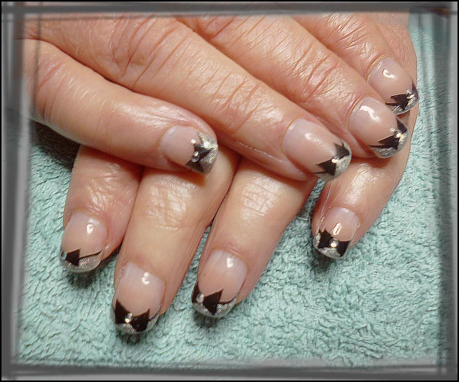 Gainage gel ongle naturel nail art gel - Deco ongle paillette ...