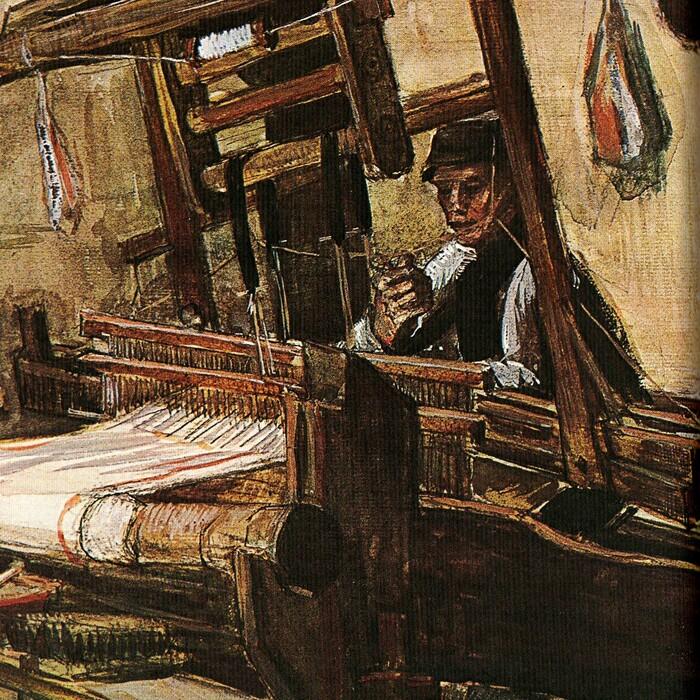 6. Van Gogh  1884 :  les tisserands