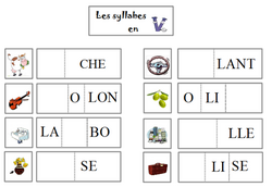 Atelier lecture de syllabes