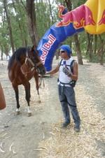Vendredi 22 juillet - Mounir et son cheval au départ de Oued Martil vers Khemiss Anjar