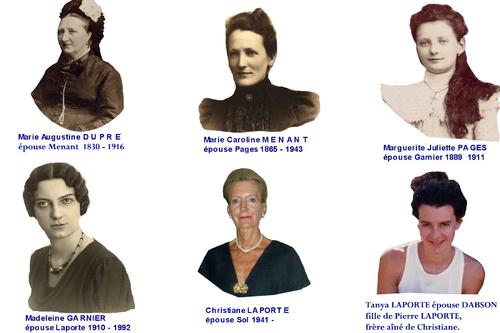 Portrait des Dames sur 6 générations