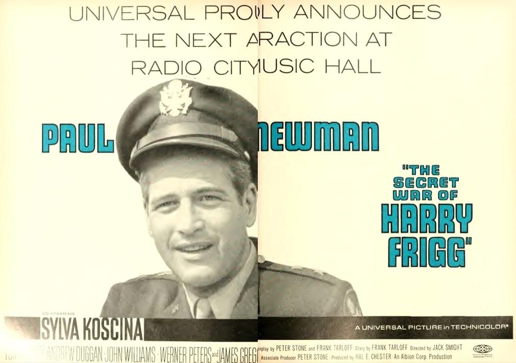 THE SECRET WAR OF HARRY FRIGG box office usa 1968