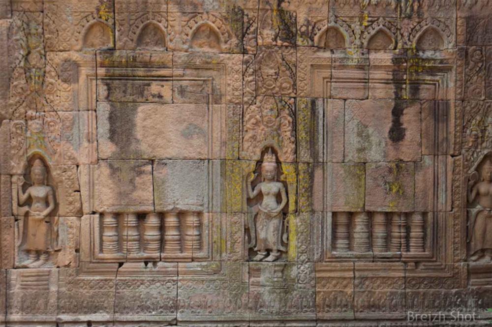 Banteay Prei Nokor : Les magnifiques bas-reliefs