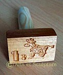poinçon à beurre personnalisé - Arts et Sculpture: sculpteur sur bois